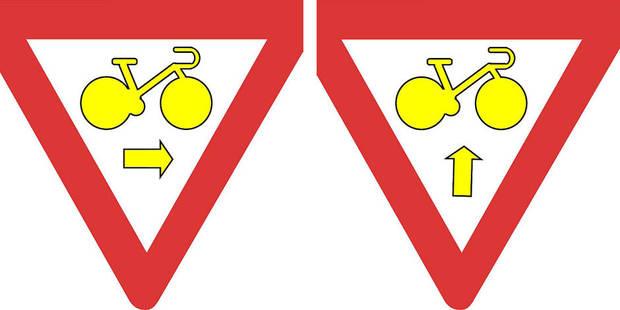 Les nouveaux panneaux pour les vélos débarquent en Belgique - La DH