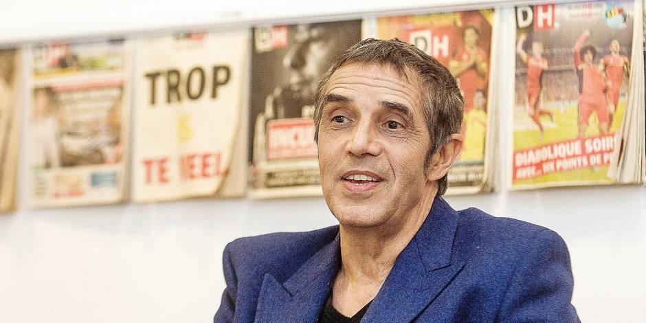 Bruxelles - Siege IPM: Julien Clerc en interview avec les lectrices de la DH