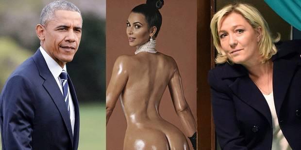 Quel est le point commun entre Obama, Kim Kardashian et Marine Le Pen ? - La DH