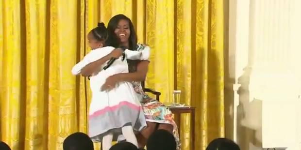 Le compliment touchant d'une petite fille à Michelle Obama - La DH
