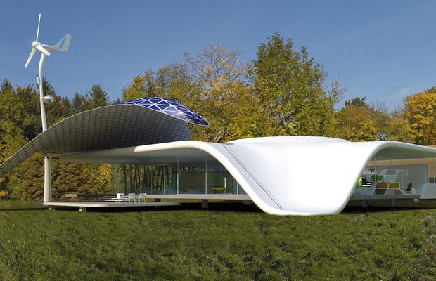 10 maisons futuristes en parfaite osmose avec la nature. Black Bedroom Furniture Sets. Home Design Ideas