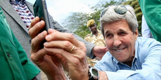 Le surprenant selfie de John Kerry - La DH