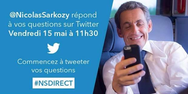 Le livetweet surréaliste de Nicolas Sarkozy - La DH
