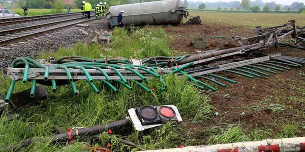 Allemagne: 2 morts dans collision entre un train et une remorque à purin - La DH