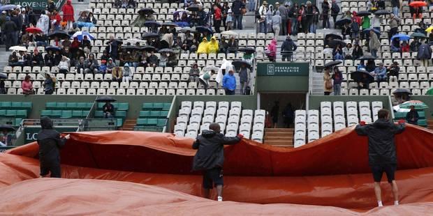 Roland Garros interrompu par la pluie - La DH