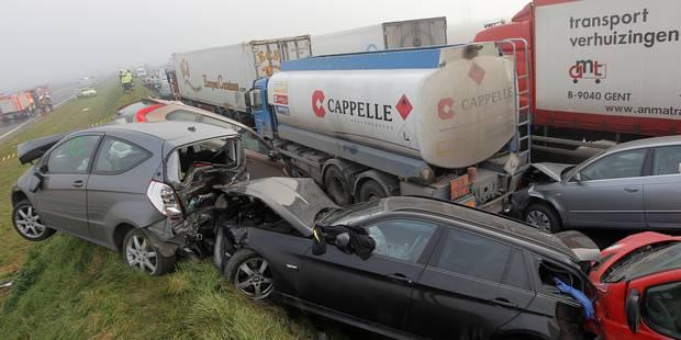 Collision en chaîne à Zonnebeke: 72 conducteurs condamnés - La DH