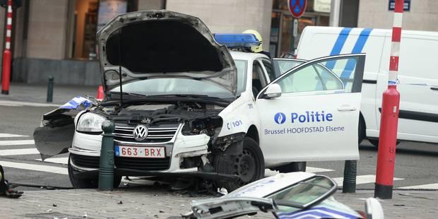 Terrible crash pour une patrouille de police à Bruxelles: une inspectrice grièvement blessée ! (PHOTOS) - La DH