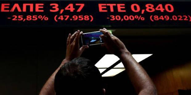 Grèce: la Bourse d'Athènes termine sur une chute historique - La DH