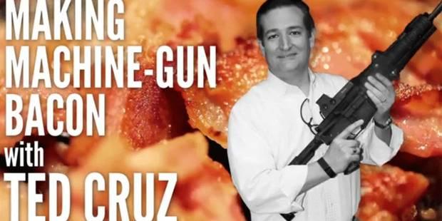 Ted Cruz, le candidat républicain qui fait cuire du bacon avec son fusil - La DH