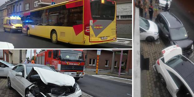 Ath: un bus de la TEC percute six voitures en stationnement! (PHOTOS) - La DH