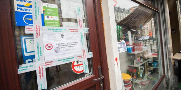 La Ville de Bruxelles pose des scellés sur quatre night-shops du piétonnier (VIDEO) - La DH