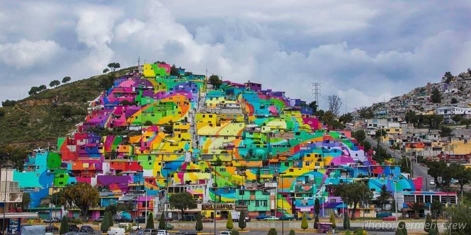 Quand le street art apporte une touche arc-en-ciel à tout un quartier