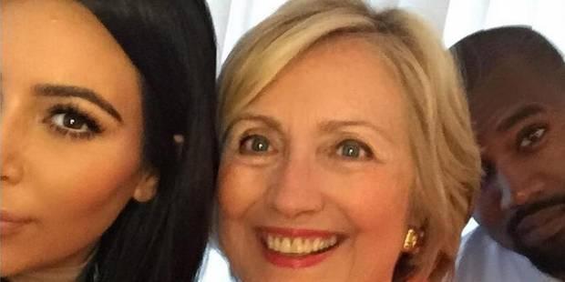 """""""Hillary présidente!"""", lance Kim Kardashian à ses millions de fans en ligne - La DH"""