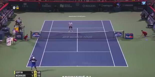 Montréal: Nishikori met un tweener à David Goffin - La DH