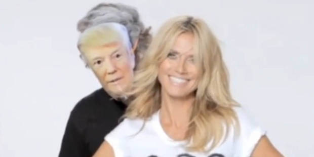 Heidi Klum répond avec humour à l'attaque de Donald Trump - La DH