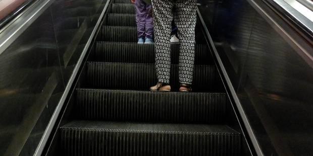 Un garçon de 8 ans hospitalisé après avoir coincé sa main dans un escalator de la Stib - La DH