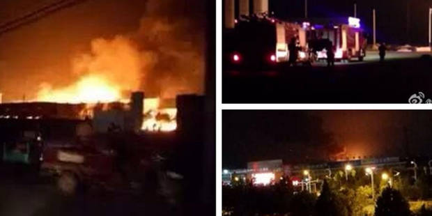 Chine: spectaculaire explosion dans une usine chimique (PHOTOS + VIDEO) - La DH