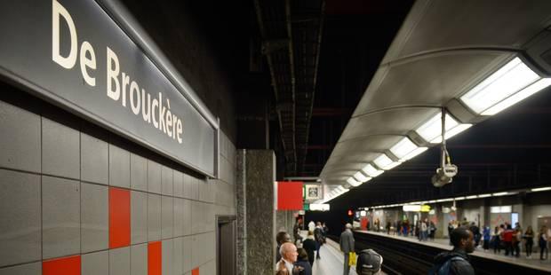 La station de métro De Brouckère a été fermée temporairement sur ordre de police - La DH