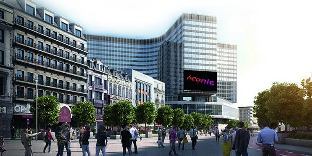 Le plus grand écran publicitaire du pays à De Brouckère - La DH