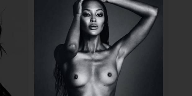 Naomi Campbell seins nus fait de la résistance - La DH