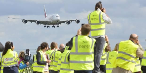 Un vol commercial de l'A380 atterrit pour la première fois en Belgique - La DH
