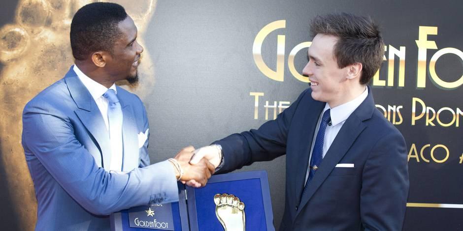 Samuel Eto'o remporte le Golden Foot Award