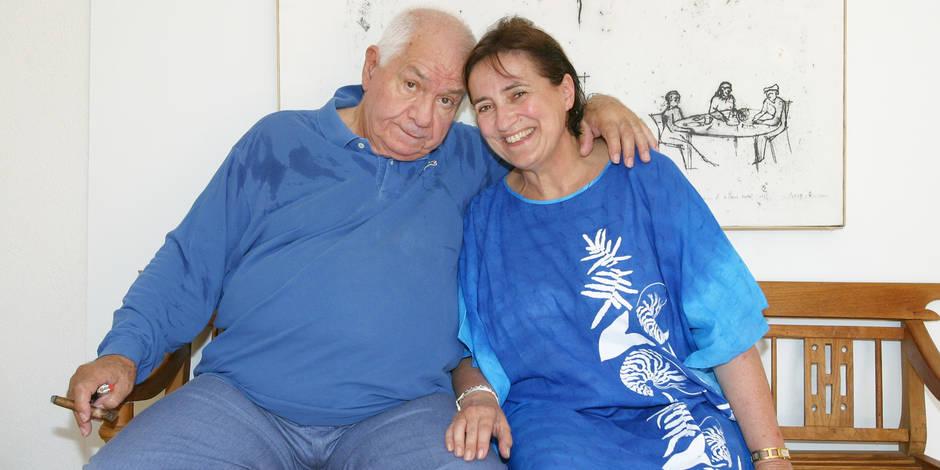 Archives - Michel Galabru et sa femme Claude posent à Ramatuelle