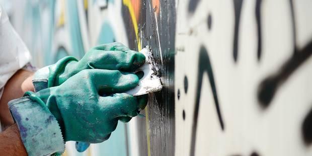 Charleroi: 200 euros par jour pour nettoyer les tags - La DH
