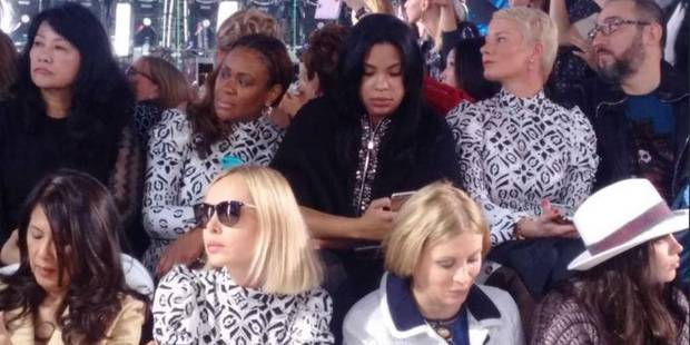 On a ri : 7 fois la même robe dans le public du défilé Louis Vuitton ! - La DH