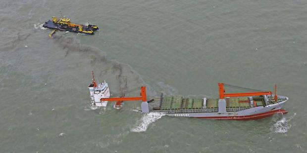 Collision navale au large de Zeebrugge : du mazout aper�u au Zwin �tudi�