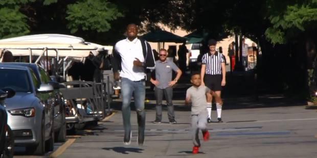 Un garçon de 8 ans bat Usain Bolt au sprint - La DH