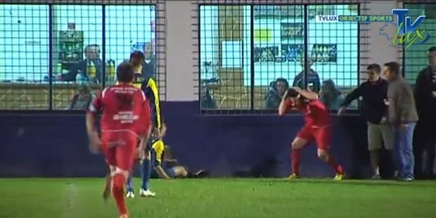 """Un """"supporter"""" frappe un joueur en P2 luxembourgeoise (VIDEO) - La DH"""
