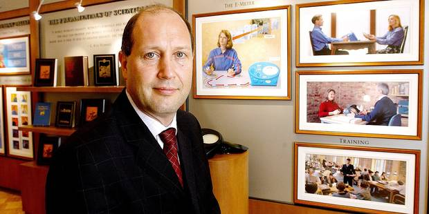 BRUSSELS, BELGIUM - SEPT-18-2003 - Martin Weightman , Director of Human Rights for the Church of Scientology at the new European headquarters in Brussels. (REPORTERS © JOCK FISTICK)