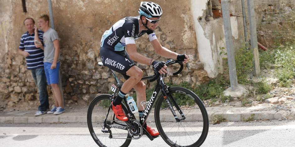 Pieter Serry victime d'une lourde chute en mountainbike