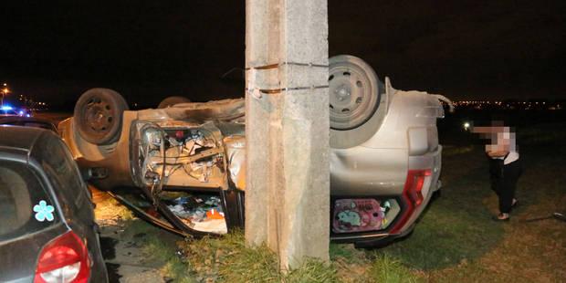 Une collision entre trois voitures fait deux blessés à Courcelles (PHOTOS) - La DH