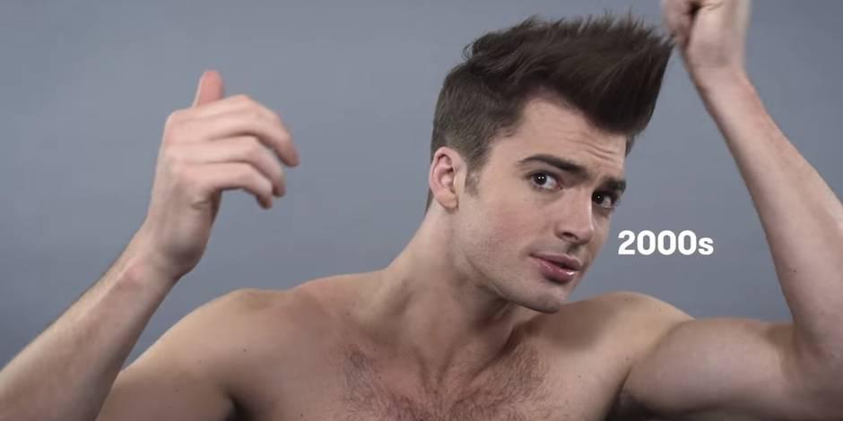 Un siècle de beauté masculine en 2 minutes