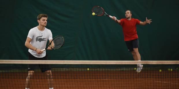 Coupe Davis: les quatre joueurs belges s'entraînent à Jambes (VIDÉO) - La DH