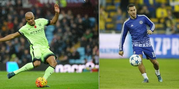 Eden Hazard et Vincent Kompany nommés pour l'équipe FIFA de l'année - La DH