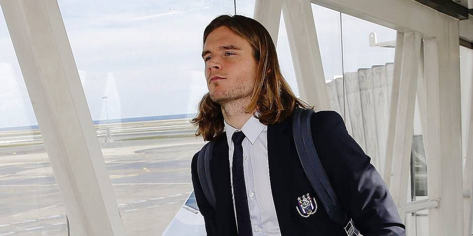 Arrival of the Rsc Anderlecht at Nice airport