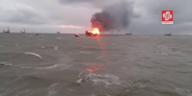 Plateforme pétrolière en feu en mer Caspienne: 30 employés portés disparus - La DH