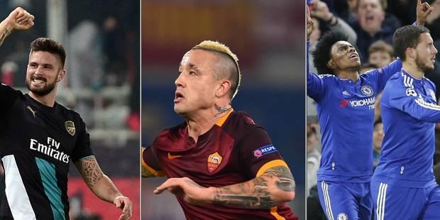 Ligue des champions: Arsenal renverse la vapeur, �a passe pour Chelsea et la Roma