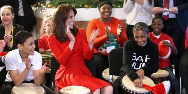 Kate Middleton, élégante mère Noël avant l'heure - La DH