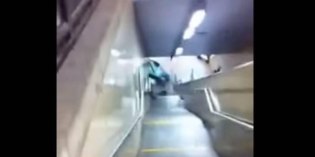 Vandalisme à Clémenceau: une interpellation après la destruction de la voiture dans le métro (VIDEO) - La DH