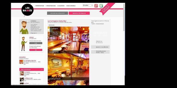 Un site web pour privatiser les bars - La DH