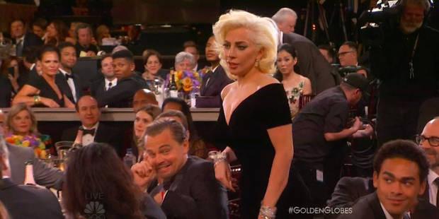 La réaction de Leonardo DiCaprio quand Lady Gaga le frôle - La DH