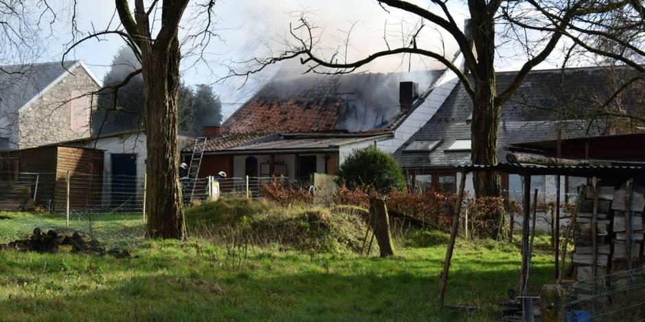 Un incendie à Pesche