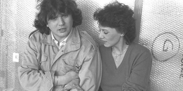 Daniel Balavoine et Linda Lecomte, une ancienne photo. | Photo : Getty Images