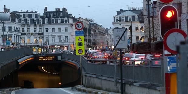 Tunnels bruxellois : la place Louise partiellement fermée au trafic à partir de mardi (Infographie) - La DH