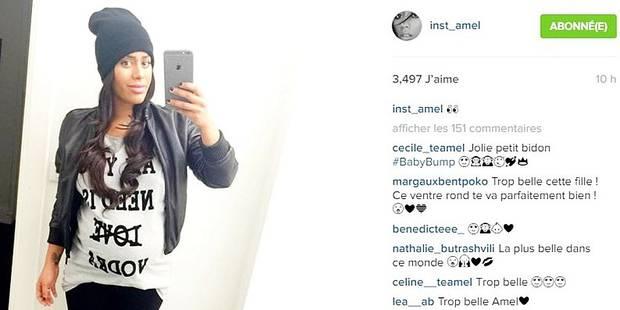Amel Bent affiche son baby bump - La DH
