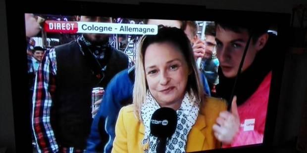 La journaliste de la RTBF Esmeralda Labye victime de gestes obscènes en plein direct à Cologne - La DH